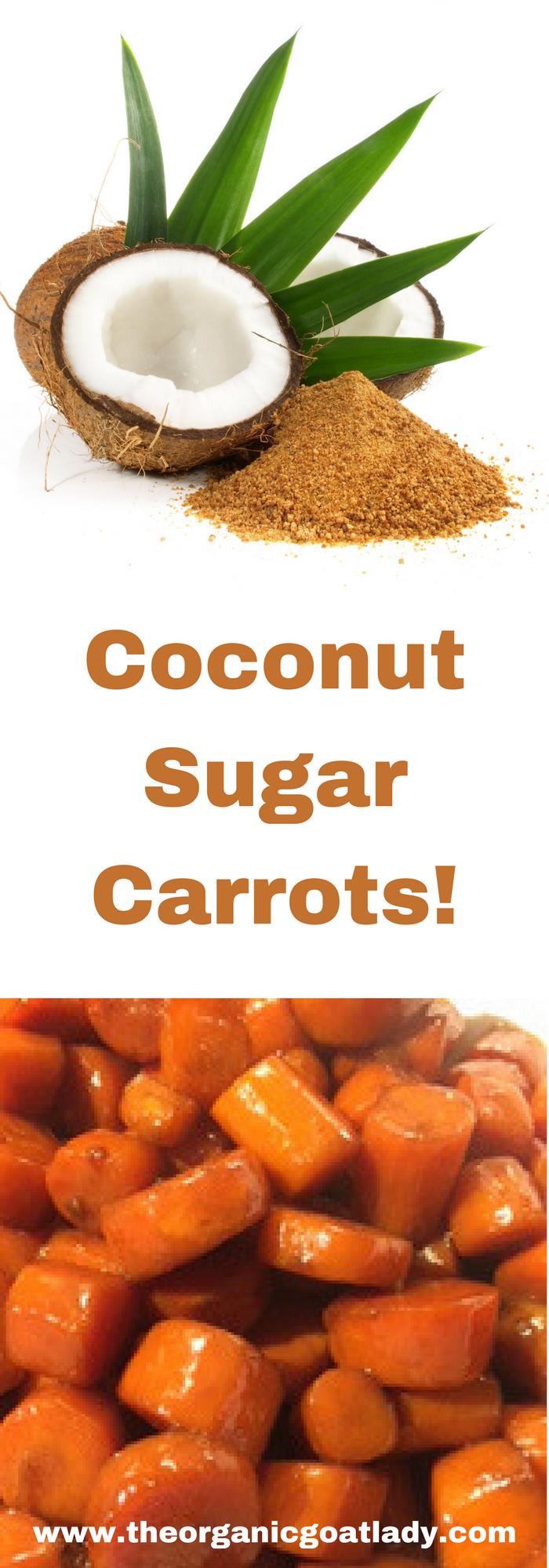 Coconut Sugar Carrots!