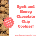 Spelt and Honey Chocolate Chip Cookies!
