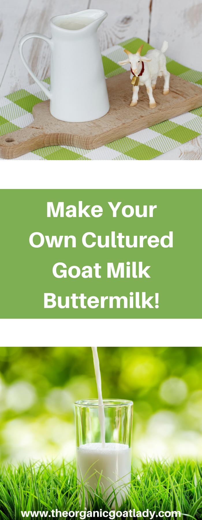Make Your Own Cultured Goat Milk Buttermilk!