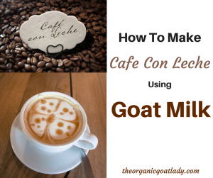 How To Make Cafe Con Leche Using Goat Milk