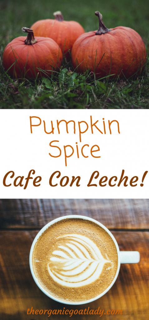 Pumpkin Spice Cafe Con Leche!