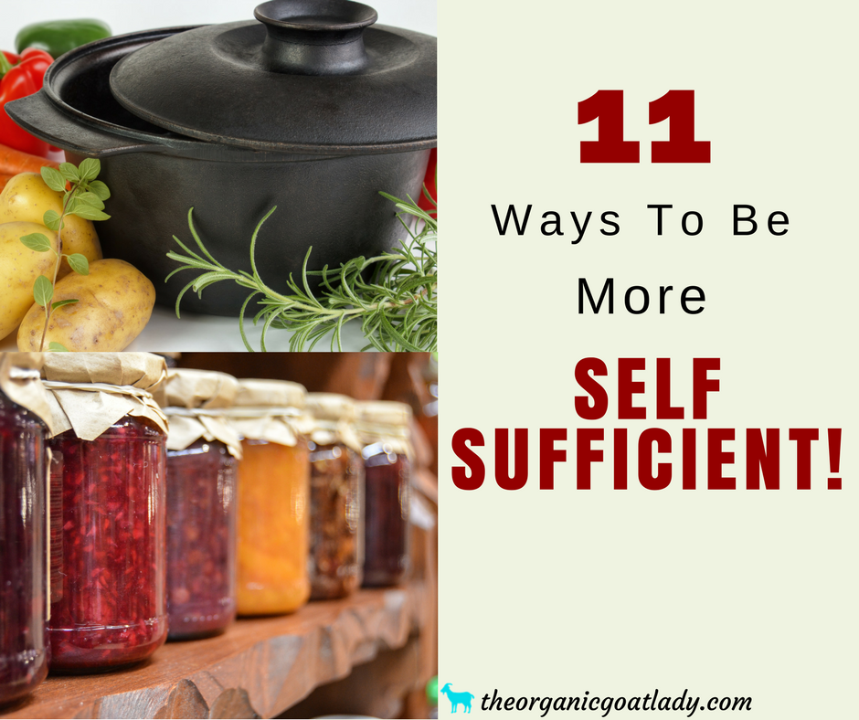 11 Ways To Be More Self Sufficient!