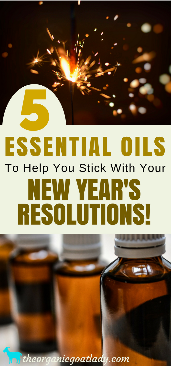 5 Essential Oils To Help You Stick With Your New Year's Resolutions!