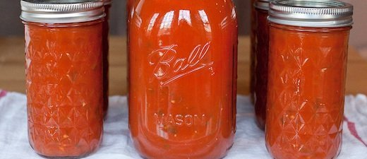 Home Canned Marinara Sauce