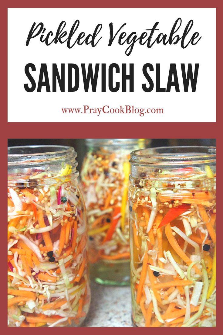 Pickled Vegetable Sandwich Slaw