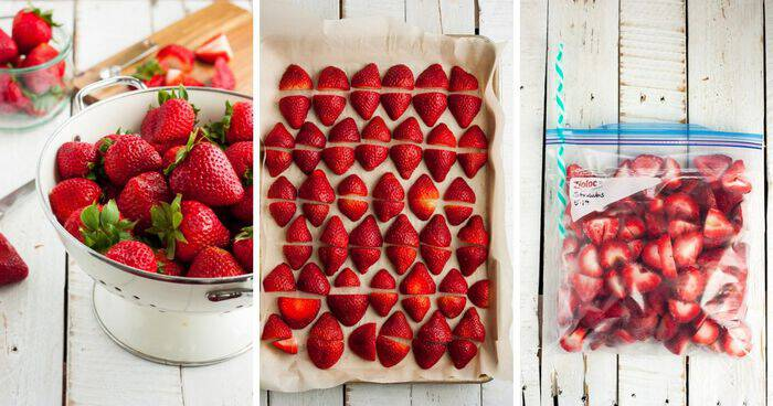 Freezing Strawberries {How to Freeze Strawberries}
