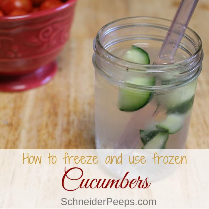 Can You Freeze Cucumbers? yes, you can!