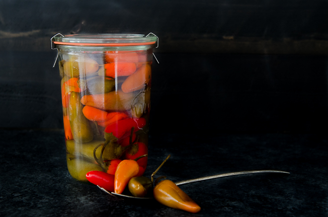 Brine-Pickled (Fermented) Jalapeños